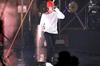 <p>Justin Bieber performed his hits during the Triller Fight Club Night at Mercedes Benz Stadium in Atlanta.</p>
