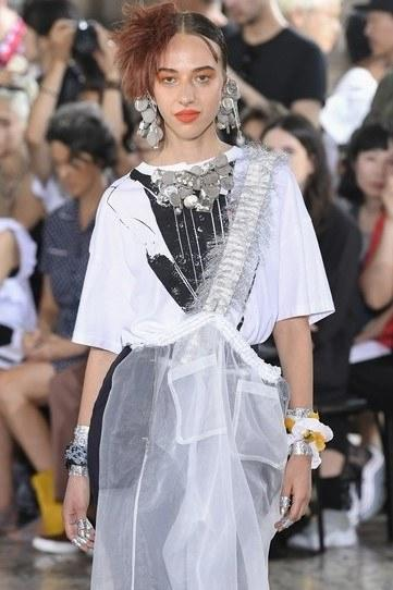 """""""For Spring 2019, the theme was youth–[Hiromichi Ochiai] asked me to look at the Danish youth and their DIY pieces. That is how the beer-can opener earring emerged. From there on I started thinking of what connects youth universally and came up with my personal sub-theme: alcohol, drugs and sex."""""""