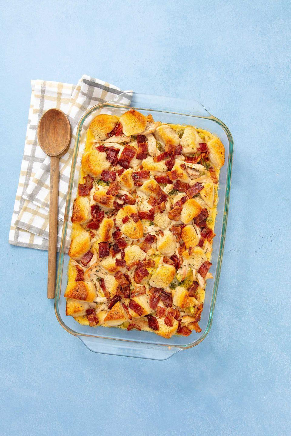 """<p>This might be the best way to use canned biscuits</p><p>.Get the recipe from <a href=""""https://www.delish.com/cooking/recipe-ideas/recipes/a58110/chicken-bacon-ranch-bubble-up-recipe/"""" rel=""""nofollow noopener"""" target=""""_blank"""" data-ylk=""""slk:Delish"""" class=""""link rapid-noclick-resp"""">Delish</a>.</p>"""