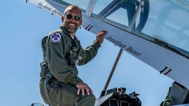 PHOTO: Jonathan Bauer is honored by the Air Force Thunderbirds prior to the OC Air Show in Ocean City, Md., June 19, 2021. (Air Force Thunderbirds/Facebook)