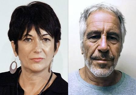 88676519_COMBO This combination of pictures created on July 2 2020 shows Ghislaine Maxwell L during.jpg