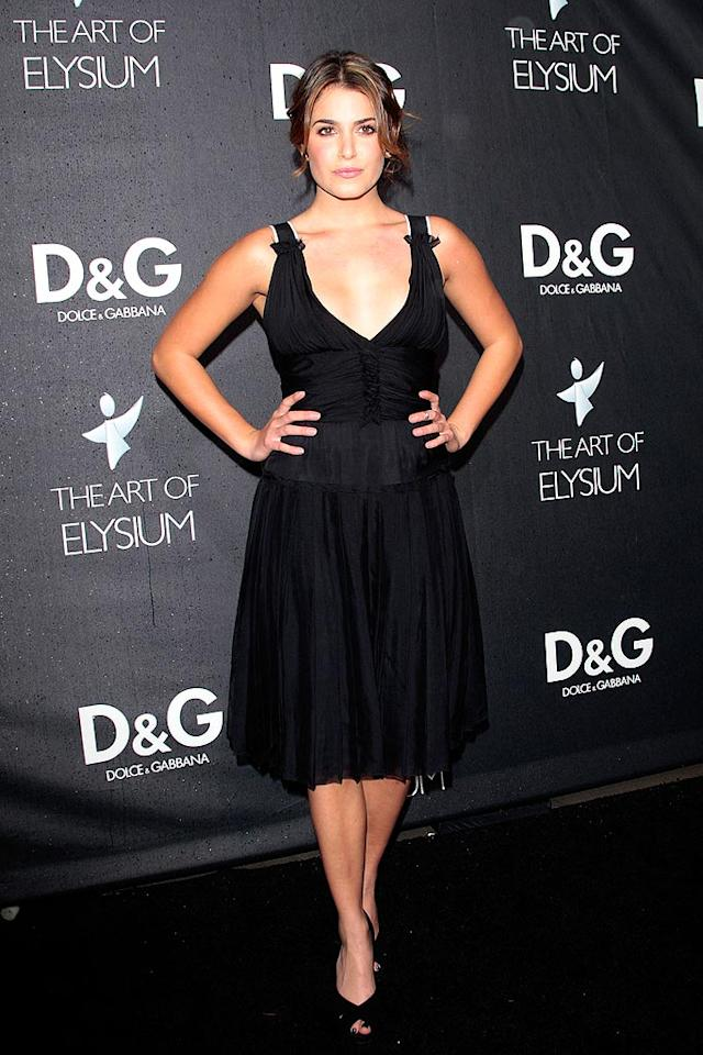 """Twilight"" star Nikki Reed vamped things up in her corset-style dress. <a href=""http://www.infdaily.com"" target=""new"">INFDaily.com</a> - December 15, 2008"