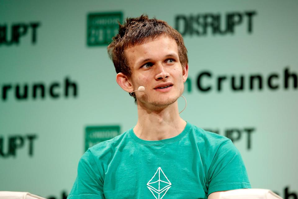<p>Tales from the crypto: Founder of Ethereum, Vitalik Buterin, donated $1bn in the form of his own cryptocurrency</p> (John Phillips/Getty Images)