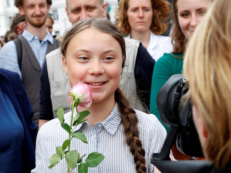 FILE PHOTO: Greta Thunberg attends a demonstration calling for action on climate change, during the
