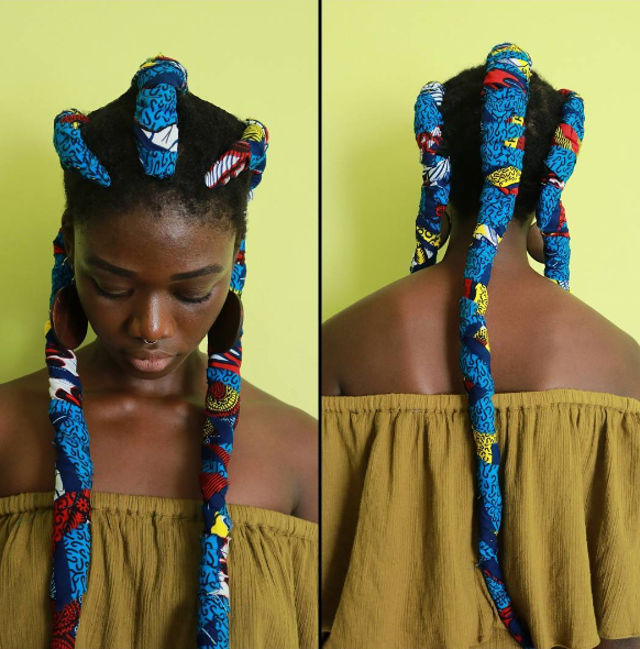 These cool Ankara styled braids are trending. (Photo: Instagram/laetitiaky)