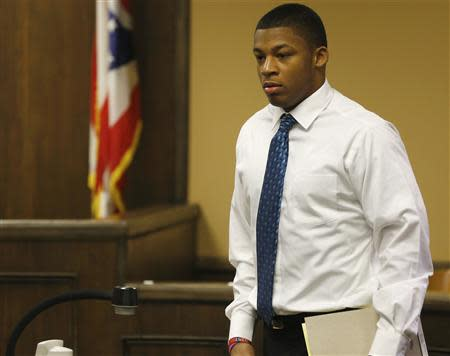 File photo of Richmond enters juvenile court in Steubenville, Ohio