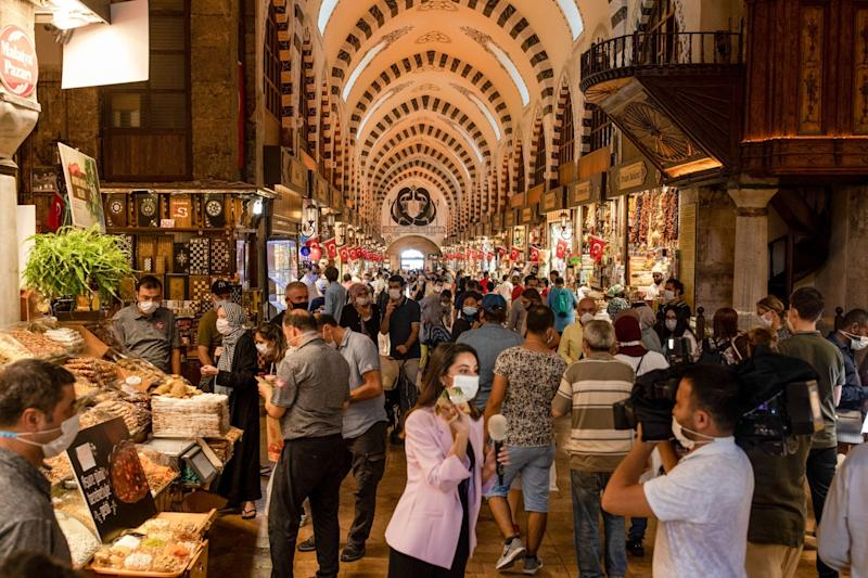 Turkish Economy Shrinks Less Than Forecast After Crisis Stimulus