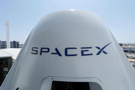 FILE PHOTO:  The top of a replica Crew Dragon spacecraft is show at SpaceX headquarters in Hawthorne, California