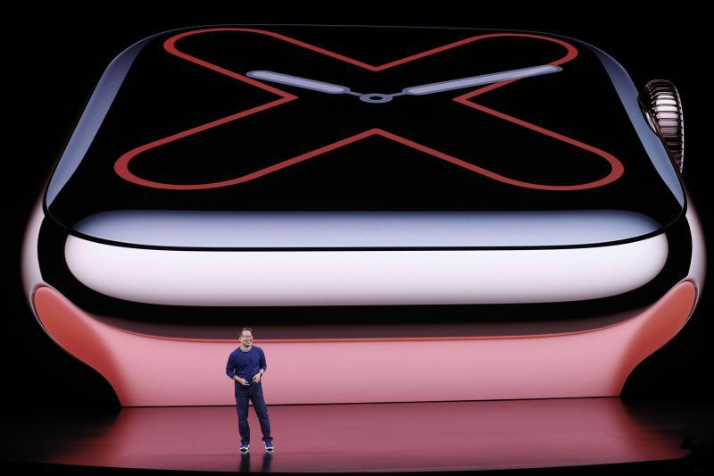 Apple Vice President Product Marketing, Apple Watch, Stan Ng speaks during the Apple Special Event in the Steve Jobs Theater at Apple Park in Cupertino, California, USA, 10 September 2019. EFE/EPA/JOHN G. MABANGLO