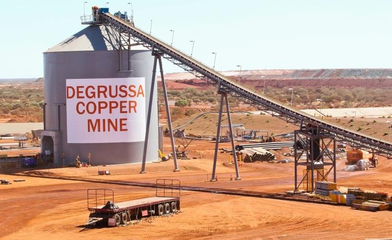 The DeGrussa copper/gold miner near Meekatharra.