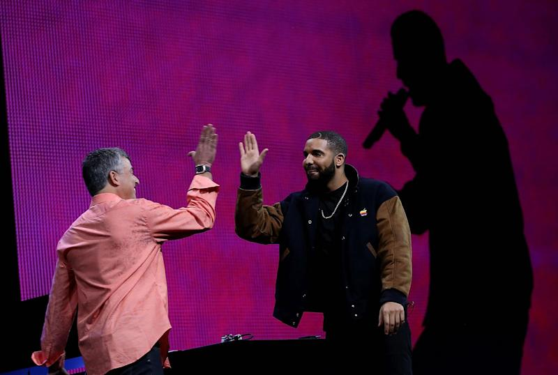 Drake announces the launch of Apple Music in 2015: Justin Sullivan/Getty Images