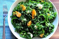 """<p>Seasonal kale is the perfect base for this bright, citrus salad. Jalapeños give it a hint of spice, while goat cheese balances the flavors out. If you want to turn this into a main course, simply add top with grilled shrimp. </p><p><a href=""""https://www.thepioneerwoman.com/food-cooking/recipes/a11567/kale-citrus-salad/"""" rel=""""nofollow noopener"""" target=""""_blank"""" data-ylk=""""slk:Get Ree's recipe."""" class=""""link rapid-noclick-resp""""><strong>Get Ree's recipe. </strong></a></p><p><a class=""""link rapid-noclick-resp"""" href=""""https://go.redirectingat.com?id=74968X1596630&url=https%3A%2F%2Fwww.walmart.com%2Fsearch%2F%3Fquery%3Dpioneer%2Bwoman%2Bmixing%2Bbowls&sref=https%3A%2F%2Fwww.thepioneerwoman.com%2Ffood-cooking%2Fmeals-menus%2Fg36806222%2Ffall-salad-recipes%2F"""" rel=""""nofollow noopener"""" target=""""_blank"""" data-ylk=""""slk:SHOP MIXING BOWLS"""">SHOP MIXING BOWLS</a></p>"""