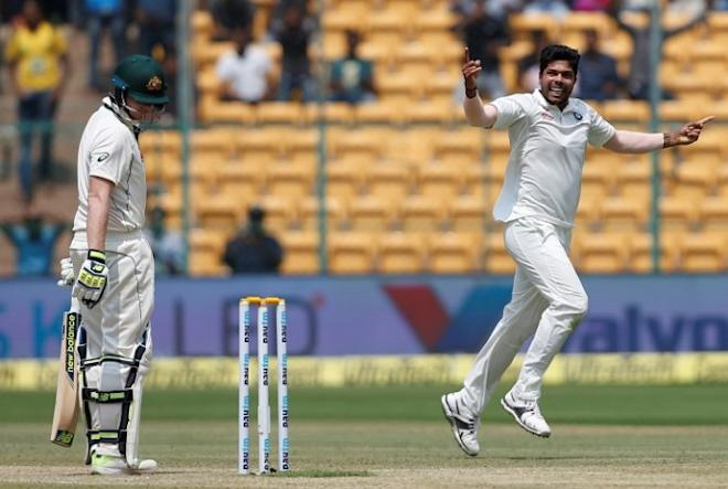 Steven Smith, Australia, Umesh Yadav, India, 2nd Test