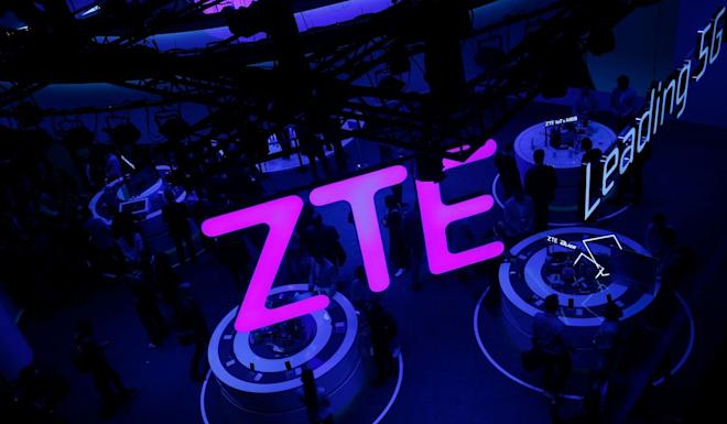A ZTE display at the Mobile World Congress in Barcelona, Spain, in February. Photo: AFP
