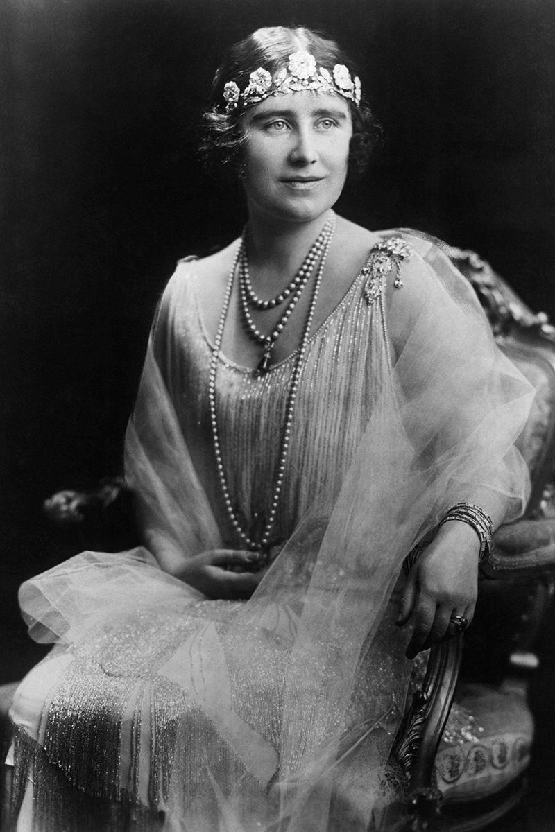 <p>The Strathmore Rose tiara was given to Lady Elizabeth Bowes-Lyon–who would become the Queen Mother–by her father for her wedding to the future King George VI in 1923. </p>