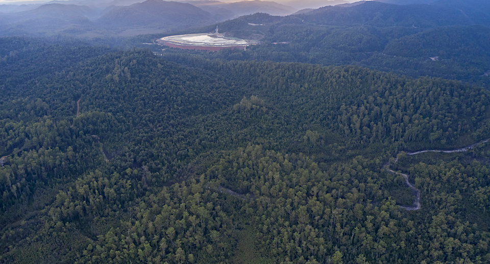 MMG plans to extend pipeline from its mine across the Pieman River and into the Tarkine. Source: Supplied