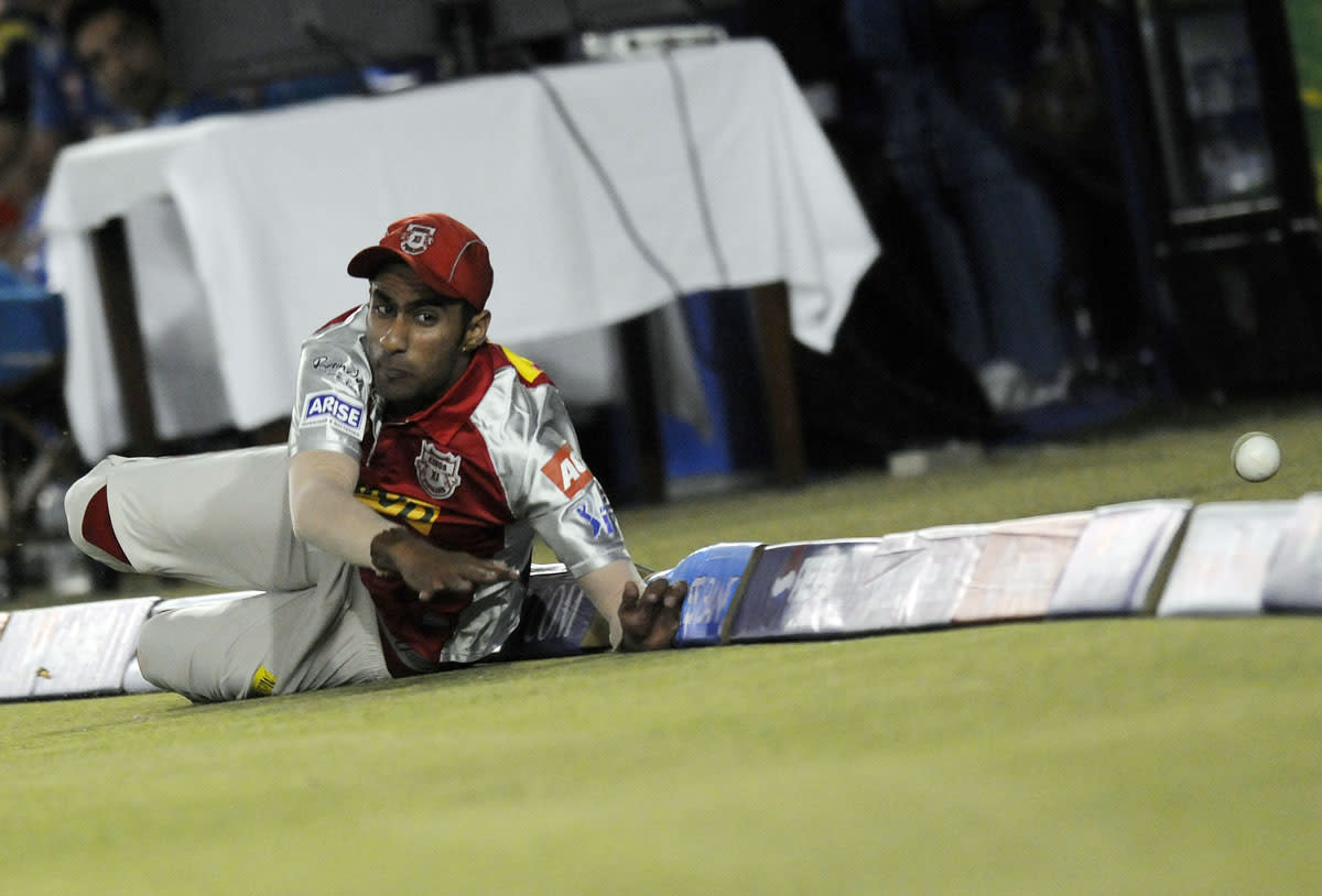 Gurkeerat Mann Singh of Kings XI Punjab fields during match 29 of the Pepsi Indian Premier League between The Kings XI Punjab and the Pune Warriors held at the PCA Stadium, Mohali, India  on the 21st April 2013. (BCCI)
