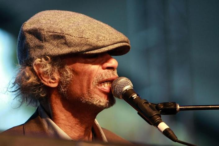 The late musician Gil Scott-Heron, shown here at Coachella in 2010, has had a comeback on Spotify, where his protest music is in the spotlight (AFP Photo/Anna Webber)