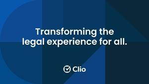 Clio is laying the groundwork for an even greater impact on legal and it starts with a new mission to transform the legal experience for all. Learn more at clio.com/mission.