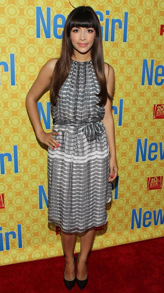 "Hannah Simone arrives at the ""New Girl"" screening hosted by The Academy of Television Arts  & Sciences at the Leonard H. Goldenson Theatre on May 7, 2012 in  North Hollywood, California."