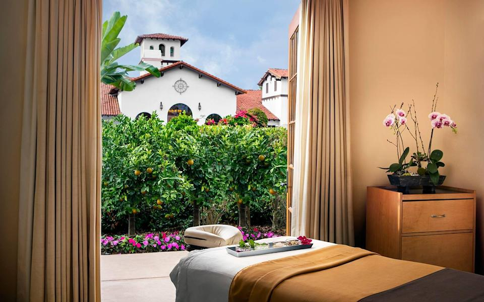 """<p>Work out all your childhood issues at the <a rel=""""nofollow noopener"""" href=""""https://www.omnihotels.com/hotels/san-diego-la-costa"""" target=""""_blank"""" data-ylk=""""slk:Omni La Costa Resort & Spa"""" class=""""link rapid-noclick-resp"""">Omni La Costa Resort & Spa</a>, the world headquarters of The Chopra Center for Wellbeing. For over 20 years, the staff at the Chopra Center has helped guests find emotional, spiritual, and physical balance through meditation, mind-body healing, yoga, and spa treatments. When you're not working on your spiritual self, find your inner peace on the golf course or the tennis court, relaxing at the pool, or sipping a local craft beer in the sun on the patio.</p>"""