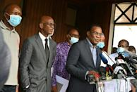 Opposition candidate Pascal Affi N'Guessan on Sunday called for a 'civilian transition' to end President Ouattara 10 years in power