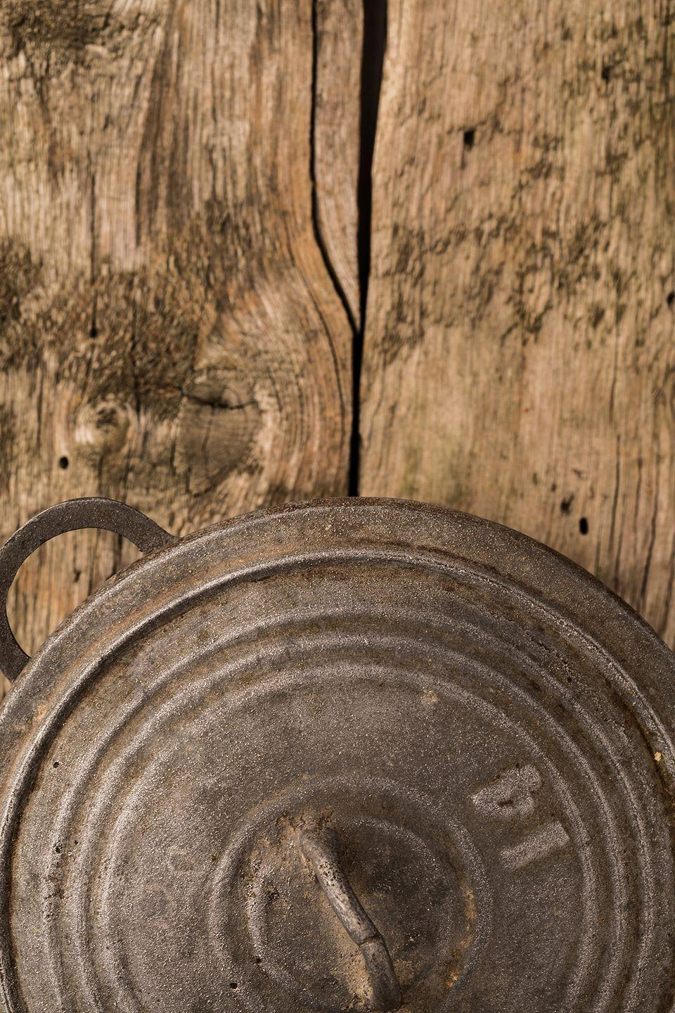 """<p>They may look beautifully distressed, but scratched, rusty, or worn-down baking sheets, pots, pans, and other go-to kitchen supplies are likely not safe for actual use, according to <a href=""""https://www.rd.com/advice/saving-money/never-buy-garage-sales/"""" rel=""""nofollow noopener"""" target=""""_blank"""" data-ylk=""""slk:Reader's Digest"""" class=""""link rapid-noclick-resp""""><em>Reader's Digest</em></a>. Chipping non-stick coatings and rust are <em>not</em> safe to consume food off of, and over-used cookware may seep harmful chemicals into your food. When it comes to <a href=""""https://www.countryliving.com/shopping/antiques/g4876/kitchen-collectibles/"""" rel=""""nofollow noopener"""" target=""""_blank"""" data-ylk=""""slk:vintage kitchen cookware"""" class=""""link rapid-noclick-resp"""">vintage kitchen cookware</a>, you may want to stick to just using them for decoration and not for food consumption.</p>"""