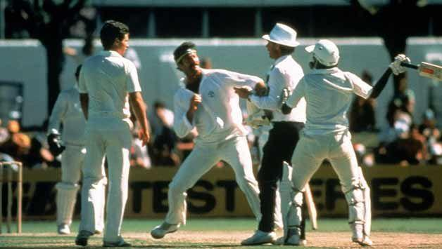 Lillee versus Miandad - the most famous picture of the 1980s