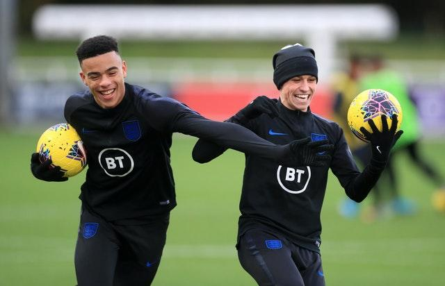 Mason Greenwood, left, and Phil Foden