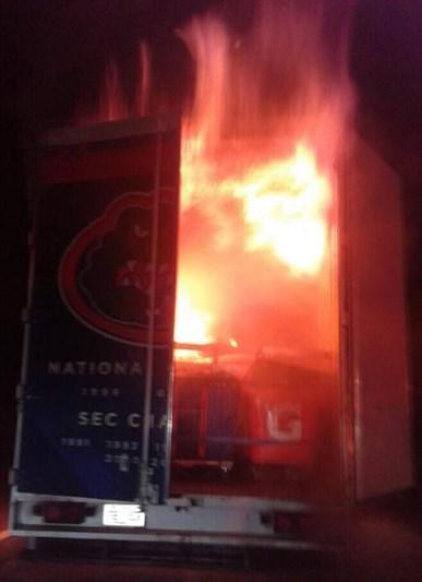 The fire that caused significant damage to the UF football team's equipment on Saturday night in Mississippi.