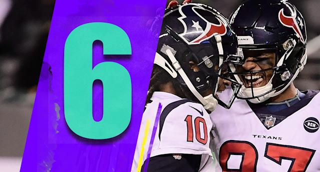 <p>The Patriots' loss is a big one for the Texans. They play at the Eagles on Sunday. If they win that, all that stands between them and a first-round playoff bye is a home game against the Jaguars, one of the worst teams in the NFL. (DeAndre Hopkins, Demaryius Thomas) </p>