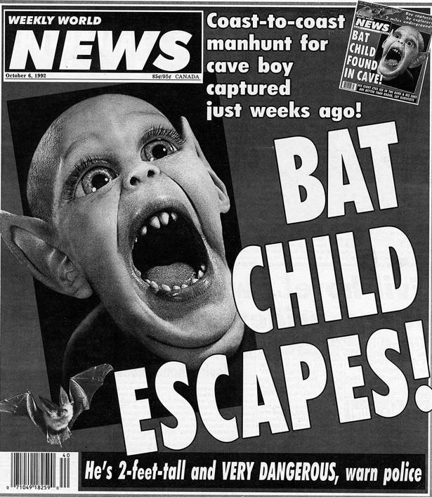 Cover of the Weekly World News, Oct. 6, 1992. (WWN)