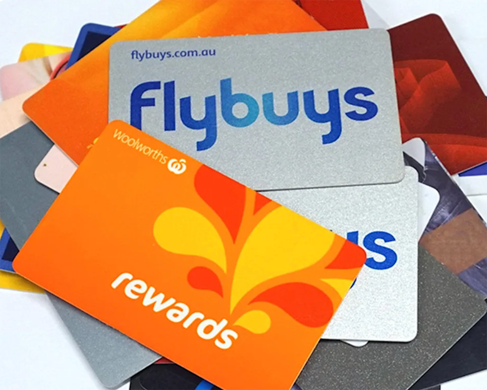Everyday Rewards and Flybuys cards.