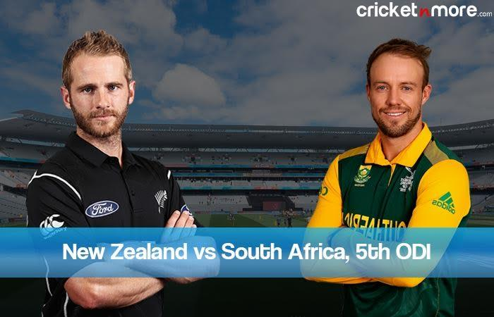 Live Score,5th ODI: New Zealand vs South Africa