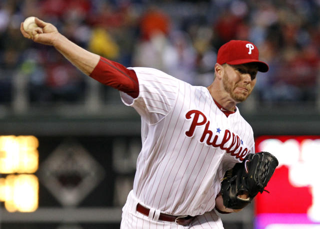 <p>A two-time Cy Young Award winner who pitched a perfect game and a playoff no-hitter for the Philadelphia Phillies, Halladay died in a plane crash on Nov. 7 at age 40. (Photo: Tim Shaffer/Reuters) </p>