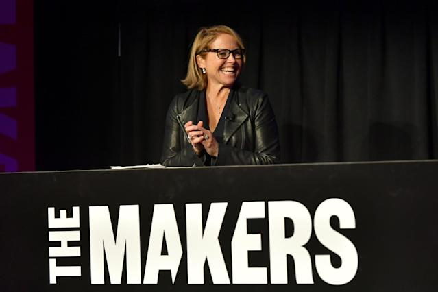 Katie Couric speaks onstage during The 2020 MAKERS Conference at the InterContinental Los Angeles Downtown on February 10, 2020 in Los Angeles, California. (Photo by Rachel Murray/Getty Images for MAKERS)