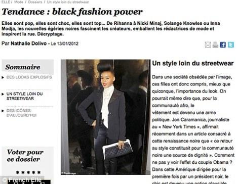 The original post on French Elle, which has since been removed from the site.