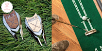 """<p>If your dad's a pro on the golf course or just a pro at watching Rory McIlroy on TV, it'd be really thoughtful to get him a gift that reflects his <a href=""""https://www.goodhousekeeping.com/life/a29860877/15-gifts-for-the-sports-fan-in-your-life/"""" rel=""""nofollow noopener"""" target=""""_blank"""" data-ylk=""""slk:love for the sport"""" class=""""link rapid-noclick-resp"""">love for the sport</a>. And just when you thought your <a href=""""https://www.goodhousekeeping.com/holidays/fathers-day/g21271459/gifts-for-dad-who-has-everything/"""" rel=""""nofollow noopener"""" target=""""_blank"""" data-ylk=""""slk:dad had everything"""" class=""""link rapid-noclick-resp"""">dad had everything</a>, you'd be surprised at the unusual and unique golf gifts you can buy right online.</p><p>From nifty <a href=""""https://www.goodhousekeeping.com/holidays/gift-ideas/g21086207/sports-gifts/"""" rel=""""nofollow noopener"""" target=""""_blank"""" data-ylk=""""slk:training gadgets"""" class=""""link rapid-noclick-resp"""">training gadgets</a> to super sweet <a href=""""https://www.goodhousekeeping.com/holidays/fathers-day/g27077850/personalized-fathers-day-gifts/"""" rel=""""nofollow noopener"""" target=""""_blank"""" data-ylk=""""slk:personalized picks"""" class=""""link rapid-noclick-resp"""">personalized picks</a> that he'll forever treasure, you can't go wrong with any presents on our list of best gifts for golf-loving dads, grandpas, fathers-in-law — whoever you're celebrating this Father's Day! FYI: A lot of these picks <a href=""""https://www.goodhousekeeping.com/holidays/fathers-day/g21101180/amazon-fathers-day-gifts/"""" rel=""""nofollow noopener"""" target=""""_blank"""" data-ylk=""""slk:are right off Amazon"""" class=""""link rapid-noclick-resp"""">are right off Amazon</a> or Etsy, so you can pair items together for a quick and easy bundle. </p>"""