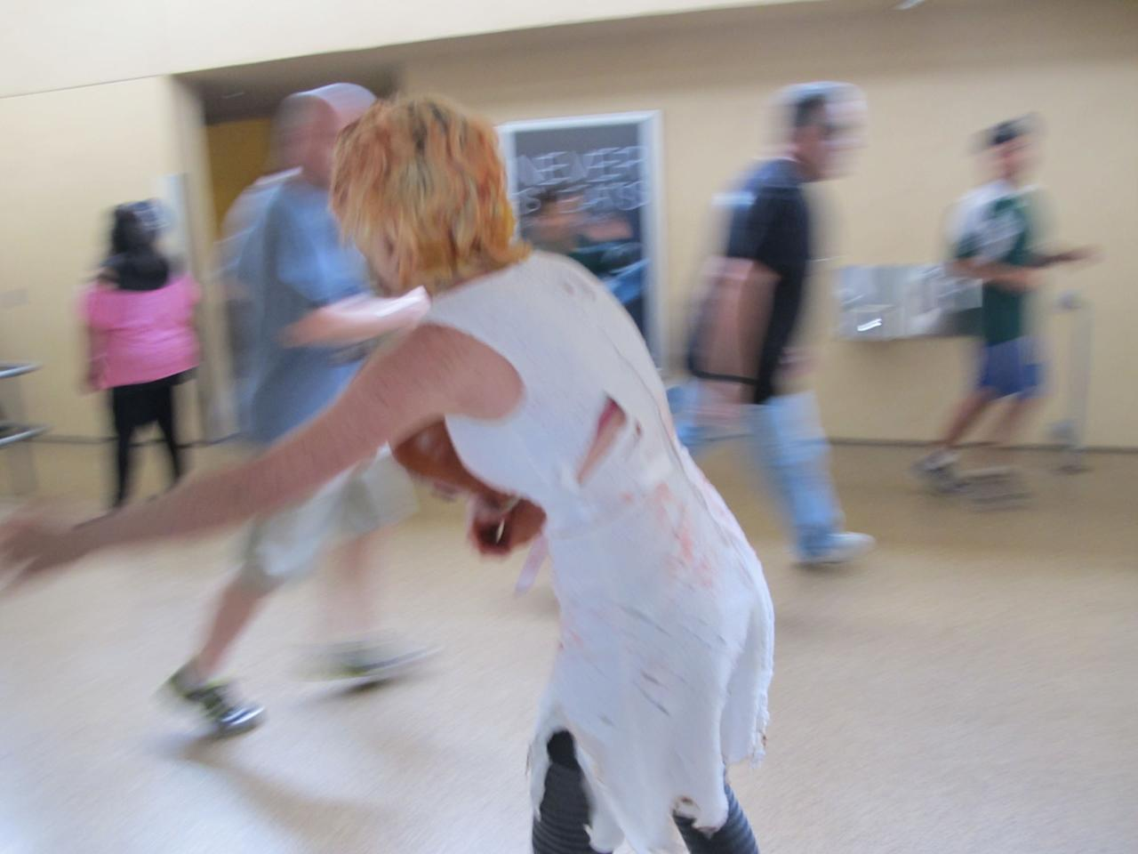 """The second annual """"The Walking Dead Escape,"""" a zombie obstacle course at Petco Park during Comic-Con weekend in San Diego, July 19th and 20th."""