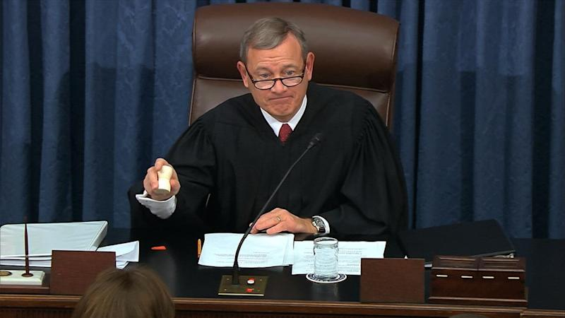 US Supreme Court Chief Justice John Roberts is presiding over Donald Trump's impeachment trial