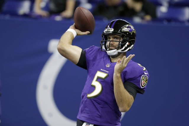 Baltimore Ravens quarterback Joe Flacco is coming off a great Week 1 game against Buffalo. (AP)