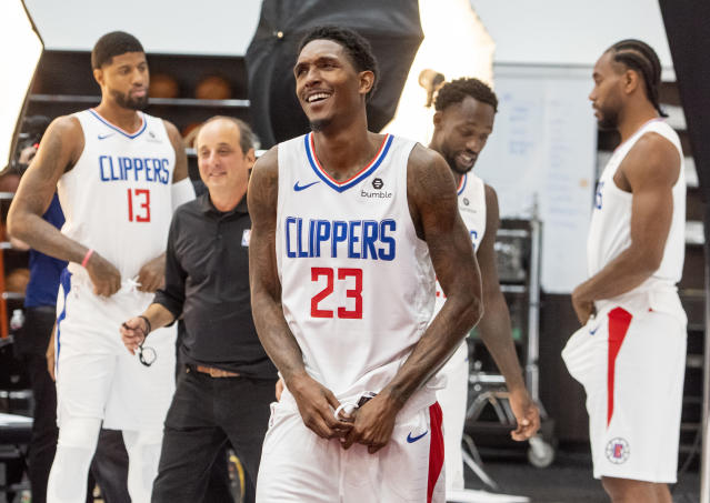 """So, Kawhi, pretty excited to join the Clippers, huh?"" — Lou Williams, likely"