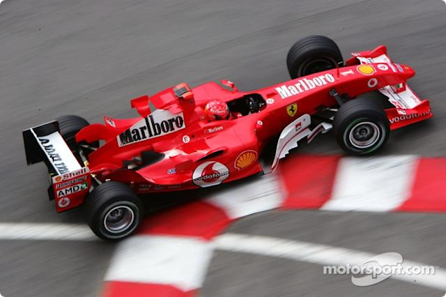 "Michael Schumacher, Ferrari <span class=""copyright"">Shell Motorsport</span>"