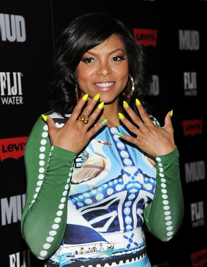 "Actress Taraji P. Henson attend the premiere of ""Mud"" hosted by The Cinema SocietyÊwith FIJI Water & Levi's at the Museum of Modern Art on Monday April 21, 2013 in New York. (Photo by Evan Agostini/InvisionAP)"