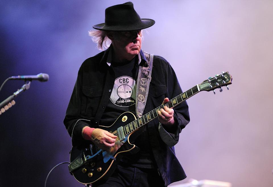 Canadian guitarist Neil Young