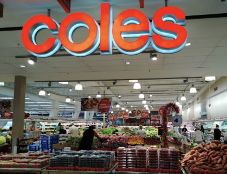 Photo shows the front of the Kincumber Coles.