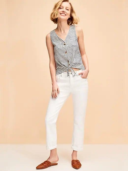 <p>Is your summer wardrobe ready with a pair of these <span>Old Navy Mid-Rise Boyfriend Straight White Jeans for Women</span> ($30, originally $35) yet?</p>