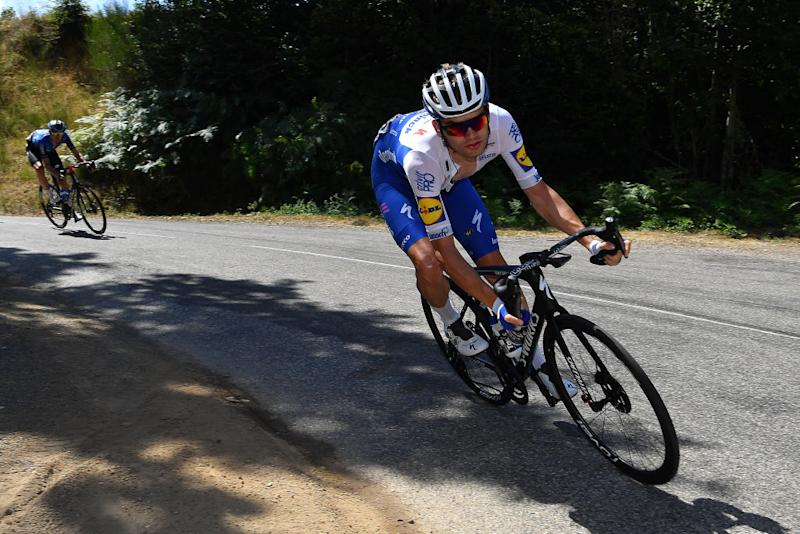 CHARTREUSE FRANCE AUGUST 13 Kasper Asgreen of Denmark and Team Deceuninck QuickStep Breakaway during the 72nd Criterium du Dauphine 2020 Stage 2 a 135km stage from Vienne to Col de PorteChartreuse 1316m dauphine Dauphin on August 13 2020 in Chartreuse France Photo by Justin SetterfieldGetty Images