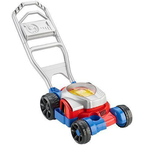 """<p><strong>Fisher-Price</strong></p><p>walmart.com</p><p><strong>$53.58</strong></p><p><a href=""""https://go.redirectingat.com?id=74968X1596630&url=https%3A%2F%2Fwww.walmart.com%2Fip%2F525359942&sref=https%3A%2F%2Fwww.goodhousekeeping.com%2Fchildrens-products%2Ftoy-reviews%2Fg36521292%2Fbest-bubble-machines%2F"""" rel=""""nofollow noopener"""" target=""""_blank"""" data-ylk=""""slk:Shop Now"""" class=""""link rapid-noclick-resp"""">Shop Now</a></p><p>If you want a toy that does more than just douses kids in bubbles, this bubble mower makes sounds, has a """"motor"""" that spins and blows bubbles to boot. It fosters imaginative play, encourages outdoor time and helps with gross motor coordination and exercise as little ones push it around. <em>Ages 2+</em></p>"""