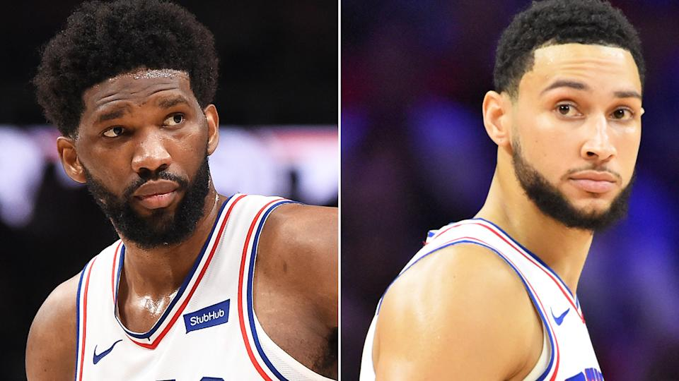 Joel Embiid said it was 'borderline disrespectful' to leave his teammates in the lurch amid a running standoff between the Australian star and 76ers management. Pictures: Getty Images
